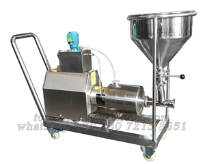 3 stage inline continuous mixer with castor