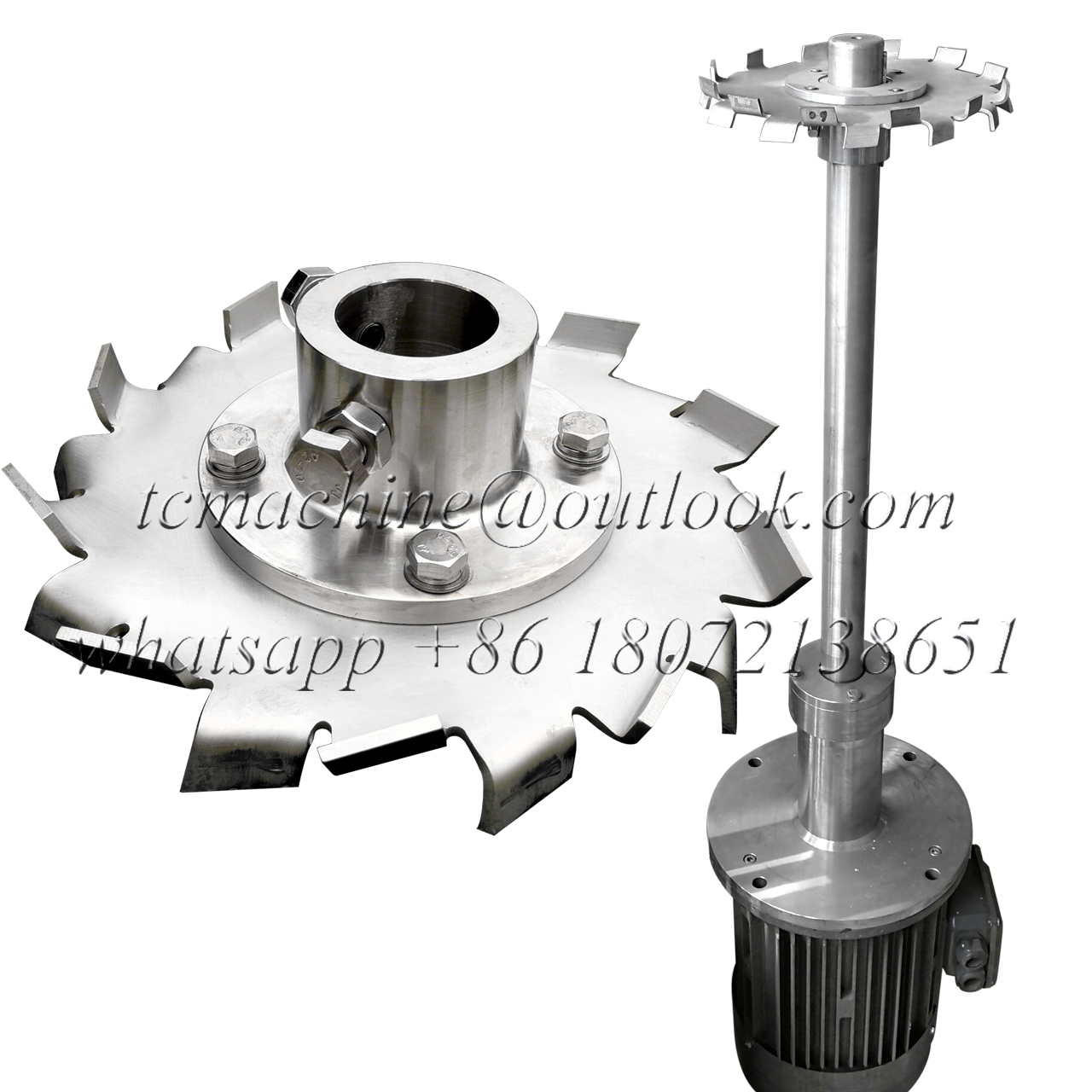 High Shear Dispersor Stainless Steel Cowles Disc Sawblade Mixer Sawtooth Impeller